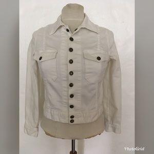 Current/Elliott White Snap Jacket Sz 1
